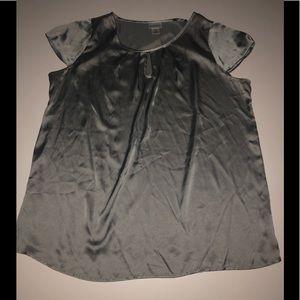 Motherhood maternity silver shiny top blouse xl